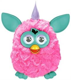 90s Furby toy for girls - pink and teal