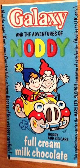 Galaxy Noddy milk chocolate bar 1970s