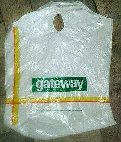 Gateway supermarket plastic bag