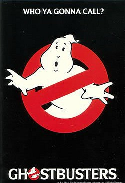 Ghostbusters movie postcard