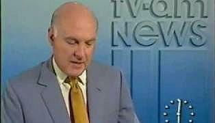Gordon Honeycombe presenting TV-AM news in the 1980s