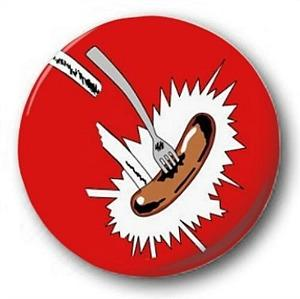 Grange Hill Sausage Button Badge