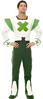 Official 70s Green Cross Code Man Costume