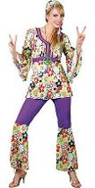 Plus Size Hippy Flower Power Costume
