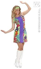 60s 70s Hippie Disco Go Go Girl Costume for Ladies