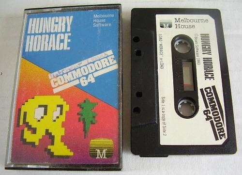 Hungry Horace Commodore 64 (C64) cassette with case (1983)