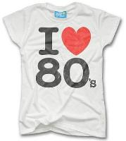 I LOveheart the 80s T-shirt Ladies