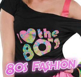 I Love the 80's off-shoulder black T-shirt for ladies