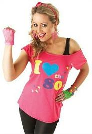 I Love the 80s Ladies Pink T-Shirt