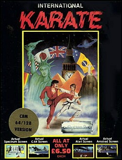 Artwork fro International Karate on C64/128