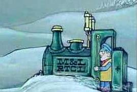 Ivor The Engine in snowdrifts