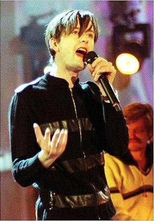 Jarvis Cocker at the 1996 Brit Awards