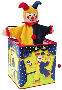 Jester Jack in the Box - retro tin toy