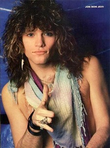 Jon Bon Jovi 80s Poster