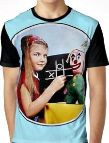 Testcard F BBC Girl and Clown Baseball Shirt