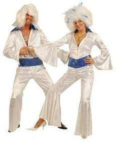 WHite 70s ABBA Jumpsuit Costume