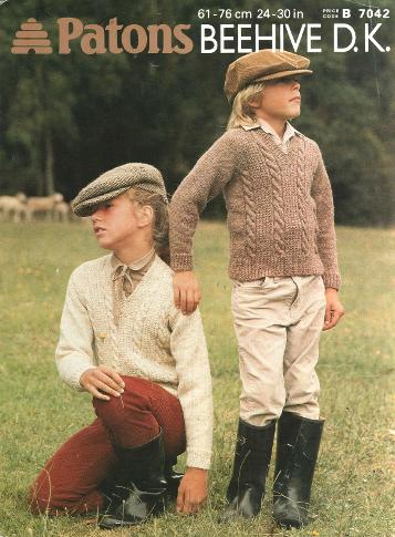 1982 Patons knitting pattern - childs country look