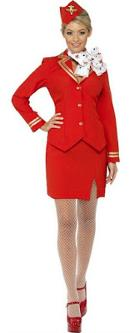80s Virgin Air Hostess Steward Costume