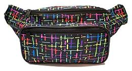 80s Colors Fanny Pack
