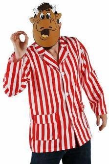Bullseye Bully Costume - striped shirt, face mask