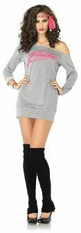 Flash Dance 80s Movie Costume - sweatshirt and leg warmers