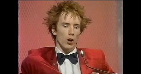 Johnny Rotten getting annoyed with Alan Freeman on Jukebox Jury in 1979