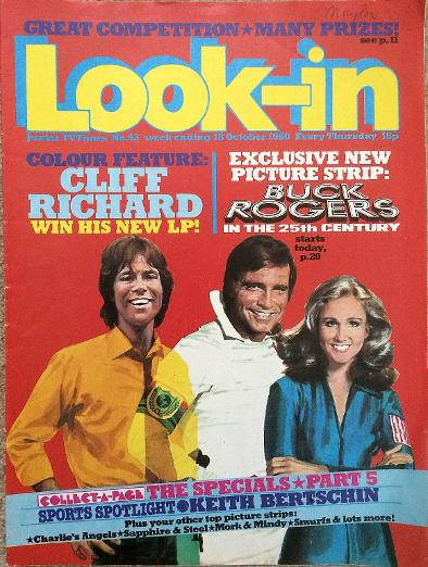 Look-In from Oct 1980 ft. Cliff Richard and Buck Rogers in the 25th Century