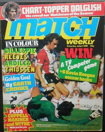 Match Weekly 4th July 1981