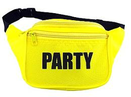 Neon Yellow 80s Party Fanny Pack