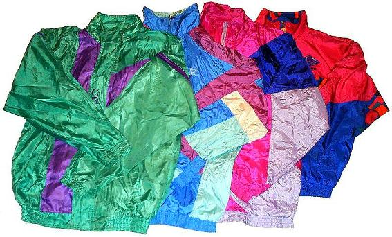 Original 1980s nylon shell suit jackets