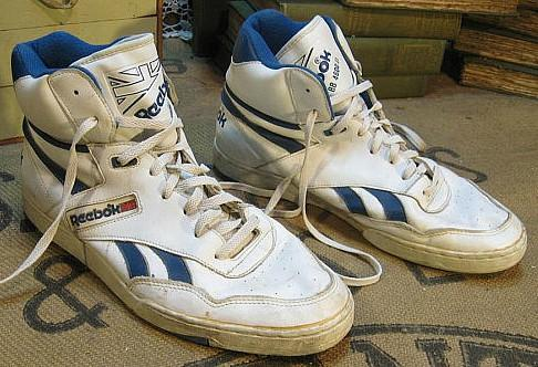 AN original pair of 1980s Reebok Hi-top trainers