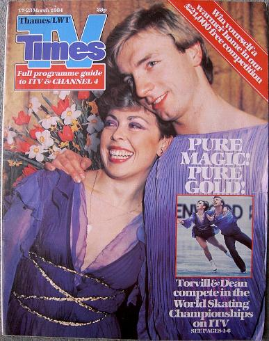 Torvill and Dean - TV Times March 1984