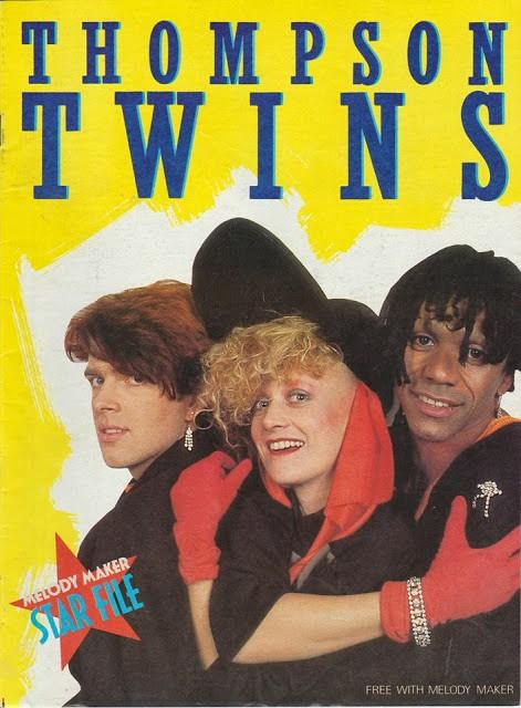 Thompson Twins poster from Melody Maker