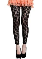 1980s Lace Leggings for MAdonna dress-up