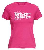 Ladies Hot Pink Back To the 80s T-shirt