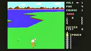 Leaderboard Golf C64 screenshot (1986) Access Software