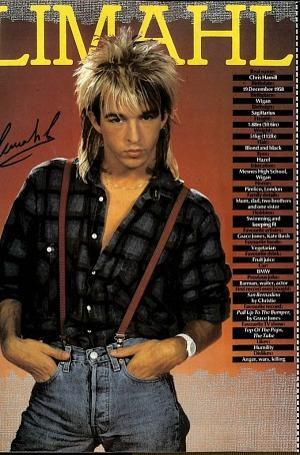 Limahl - Look-In magazine back cover from 1984