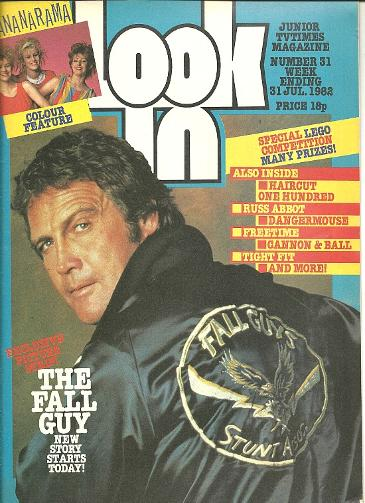 Look-in magazine 31st July 1982 ft. Lee Majors as The Fall Guy