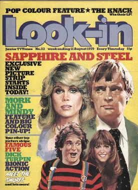 Look-in magazine 11th Aug 1979 ft. Sapphire and Steel, Mork & Mindy