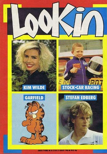 Look-in magazine 13 Aug 1988 ft. Kim Wilde, Garfield and Stefan Edberg