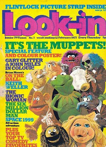 Look-In Magazine Cover  - Feb 1977 Muppets