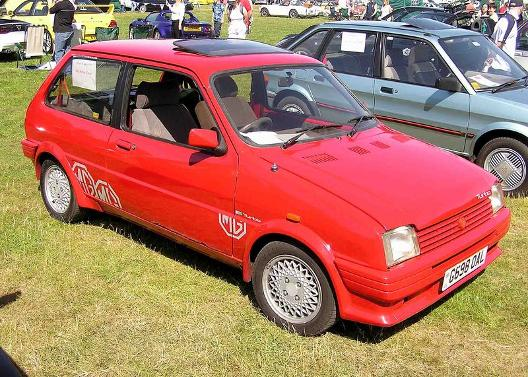 Red MG Metro Turbo 1989