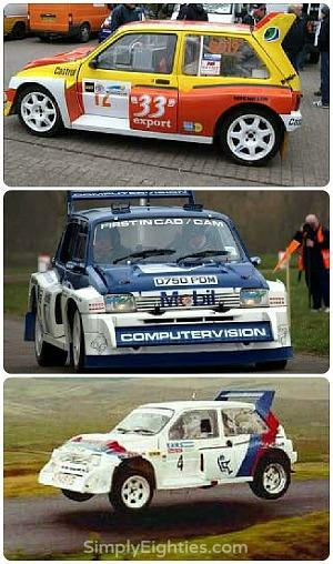 MG Metro 6R4 rally cars