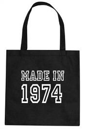 Made in 1974 - 40th Birthday Black Tote Bag