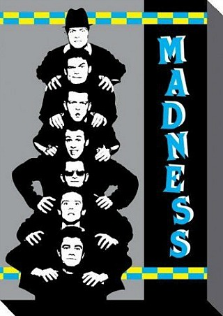 Madness stretched art canvas