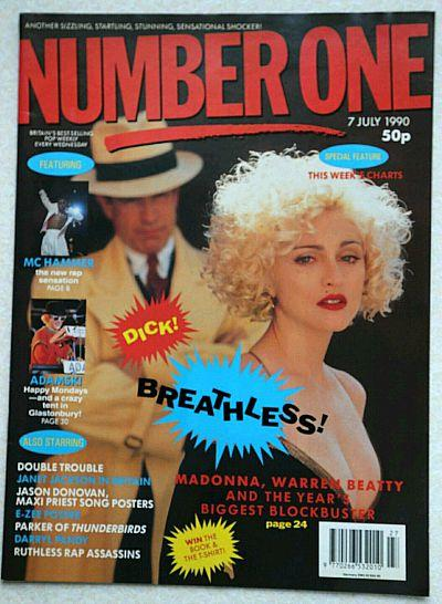 Madonna Breathless! Number One magazine July 1990