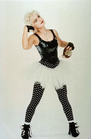 Madonna wearing polka dots in Who's That Girl