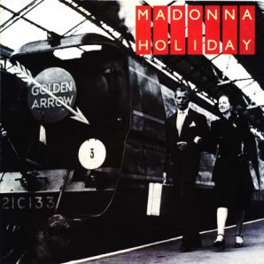 Madonna - Holiday (single cover ft. Golden Arrow train)