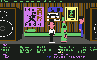 Screenshot from Maniac Mansion