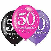 50th Birthday Party Balloons